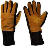 Moda Men's Mr. Brooklyn Genuine Suede and Knit Cold Weather Winter Workers Gloves