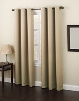 Montego No. 918 Casual Textured Grommet Curtain Panel, 48 x 84 Inch, Taupe