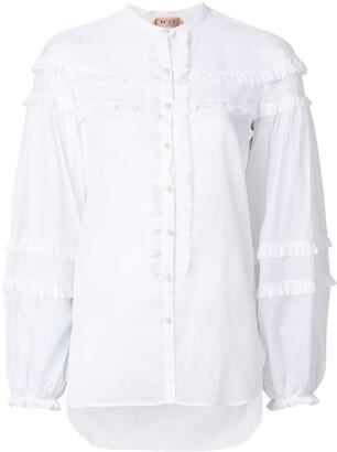 No.21 ruffle-trimmed shirt