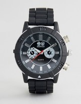 Crosshatch Black Watch With Imitation Inner Dials