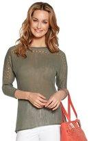 M&Co Pointelle linen jumper