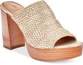 Frye Women's Katie Woven Block-Heel Slides