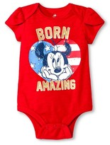Minnie Mouse Newborn Girls' Minnie Mouse Bodysuit - Red