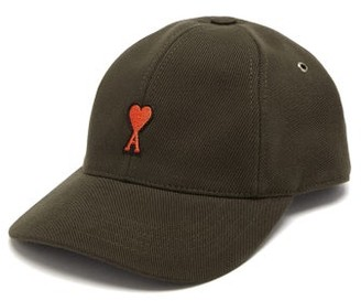 Ami De Coeur-applique Cotton Baseball Cap - Mens - Dark Brown
