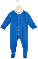 Petit Bateau Boys' Anchor Accented Velvet All-In-One