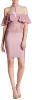 Wow Couture Off-the-Shoulder Choker Ruffle Dress