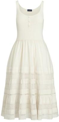 Ralph Lauren Henley Sleeveless Contrast Dress