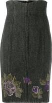 A.N.G.E.L.O. Vintage Cult 1990s flower motif denim skirt