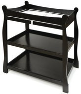 Badger Basket Sleigh Style Baby Changing Table, Black by
