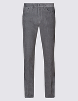 M&S Collection Straight Fit Pure Cotton Textured Chinos