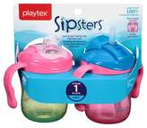 Playtex Sipsters Stage 1 Straw and Spout Trainer Sippy Cup 6oz 2 Pack Assorted Colors