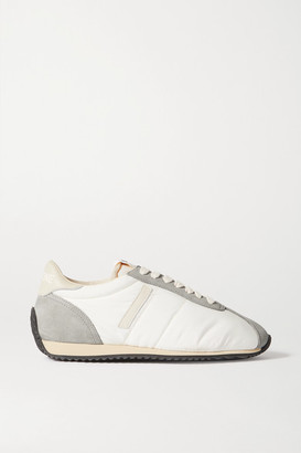 RE/DONE 70s Runner Suede And Leather-trimmed Shell Sneakers - White