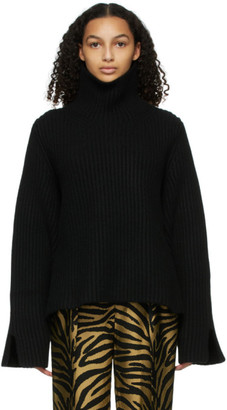 KHAITE Black Molly Turtleneck
