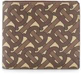 Burberry monogram print bifold wallet