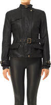 Max Studio Belted Leather Jacket