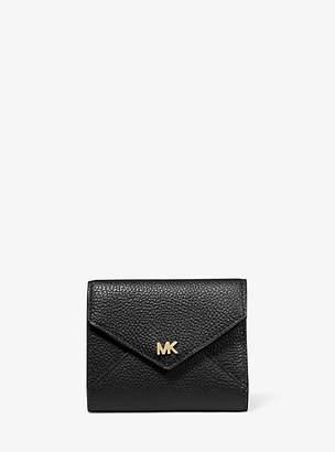 MICHAEL Michael Kors Medium Two-Tone Pebbled Leather Envelope Wallet