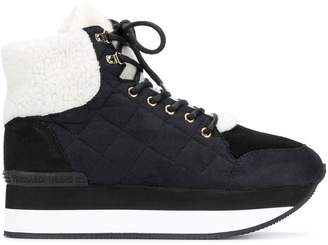 Trussardi Jeans Lace-Up Quilted Sneakers