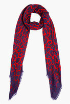 CHRISTOPHER KANE Red Leopard Print Scarf