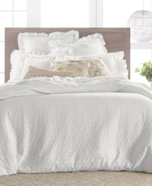 Lucky Brand Textured Woven Cotton 3-Pc. King Duvet Set, Created for Macy's Bedding