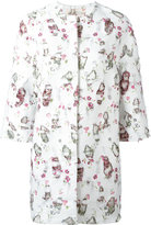 Giambattista Valli printed cocoon coat - women - Silk/Cotton/Polyester/Viscose - 40