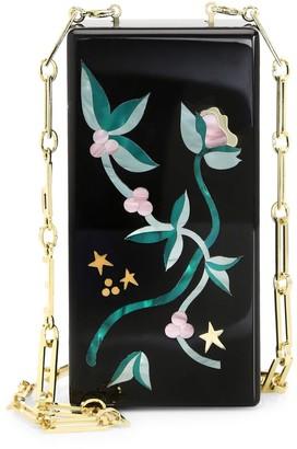 Edie Parker Minnie Floral Stars Convertible Strap Clutch