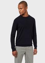 Emporio Armani Sweater With Embossed Maxi Eagle