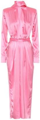MATÉRIEL Stretch-silk satin midi dress