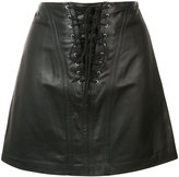 Derek Lam 10 Crosby laced mini skirt - women - Lamb Skin/Polyester - 0