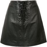 Derek Lam 10 Crosby laced mini skirt - women - Polyester/Lamb Skin - 0