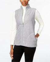 Karen Scott Reversible Fleece-Lined Vest, Only at Macy's