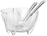 "Prodyne Salad Bowl with Servers - Clear (11"")"