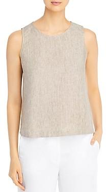 Eileen Fisher Petites Organic Linen Sleeveless Top