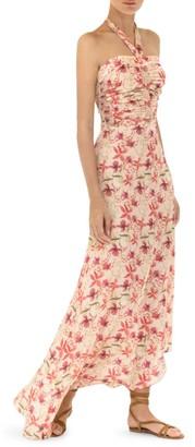 Alexis Tahanie Floral Halter Maxi Dress