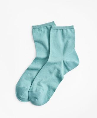 Brooks Brothers Cotton-Silk-Blend Ankle Socks