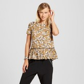 Xhilaration Women's Short Sleeve Peplum Printed Tee Juniors')