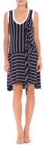 Olian Women's 'Krystal' Stripe Ruffle Maternity Dress