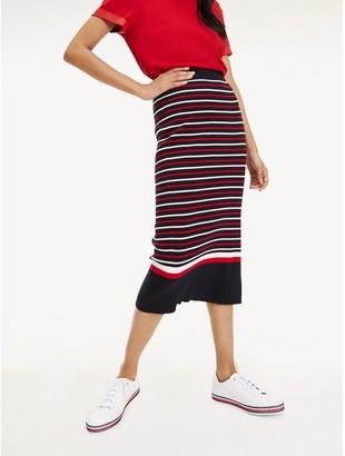 Tommy Hilfiger Ribbed Stripe Pencil Skirt