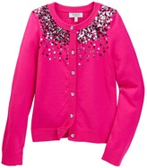 Milly Minis Ombre Sequin Cardigan (Big Girls)