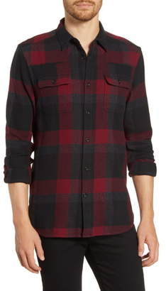 French Connection Regular Fit Plaid Flannel Button-Up Shirt