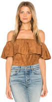 Cupcakes And Cashmere Jennings Top in Brown. - size L (also in M,S,XS)