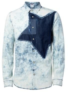 Desigual Men's Colm Star Woven Denim Shirt