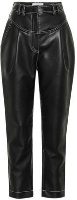 Philosophy di Lorenzo Serafini High-rise faux-leather pants