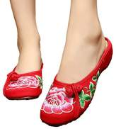 Tianrui Crown Womens Peony Embroidery Summer Casual Slippers Shoes Sandal