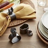 Crate & Barrel Turkey Napkin Ring