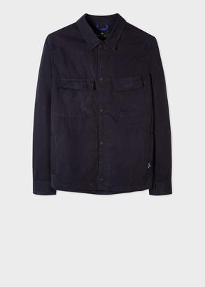 Men's Navy Cotton Shirt Jacket