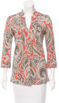 Etro Paisley Print Long Sleeve Top