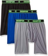 Champion Men's Active Performance Long Boxer Brief Black/Concrete