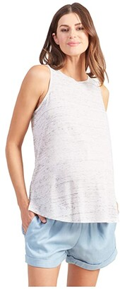 Ingrid & Isabel Maternity Active Cross-Back Tank (White Marbel) Women's Clothing