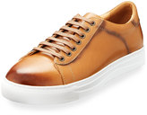 English Laundry Wimbledon Leather Low-Top Sneaker, Brown