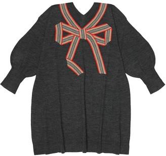 BURBERRY KIDS Merino wool and silk dress